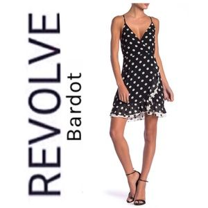 Revolve Bardot Kinsley Polka Dot Dress Size 6